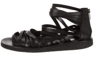 Marc Jacobs Leather Zip-Up Sandals