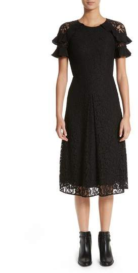 Women's Burberry Zahramf Ruffle Lace Dress