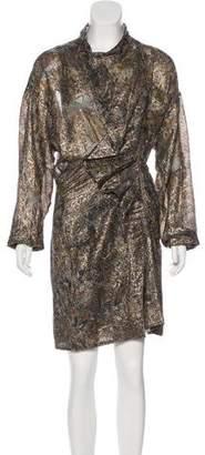 Isabel Marant Knee-Length Printed Silk Dress