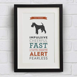 Breed Well Bred Design Fox Terrier Dog Traits Print