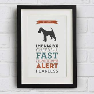 Breed Well Bred Design Fox Terrier Dog Traits Print