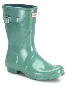 Hunter Original Short Gloss Rubber Rain Boots $140 thestylecure.com