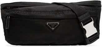 Prada black logo crossbody belt bag