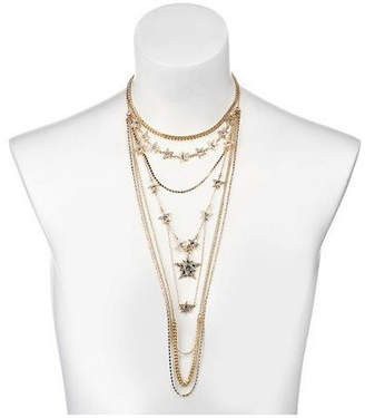 Nicole Miller Multi-Row Star Statement Necklace