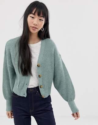 Asos Design DESIGN chunky cardigan with blouson sleeve