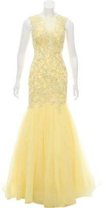 Mac Duggal Embellished Tulle Gown