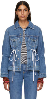 Proenza Schouler Blue PSWL Denim Drawstring Jacket