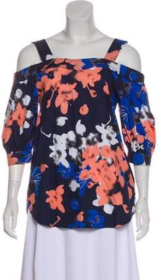 Timo Weiland Floral Print Cold-Shoulder Top