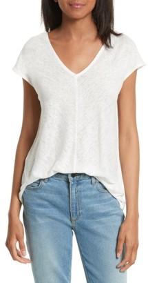 Women's Joie Espin Linen Jersey Tee $128 thestylecure.com