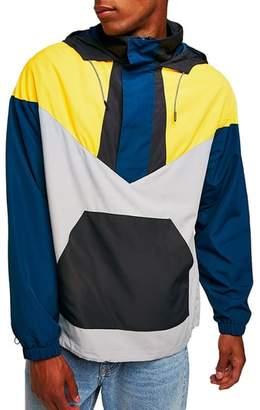Topman Half-Zip Pullover Hooded Jacket
