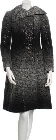 Alice + Olivia Alice + Olivia Embellished Wool Coat w/ Tags