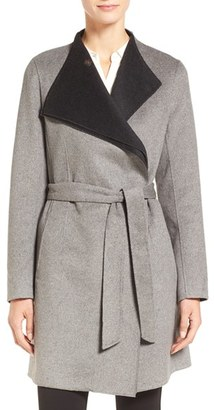 Women's Calvin Klein Belted Wrap Coat $390 thestylecure.com