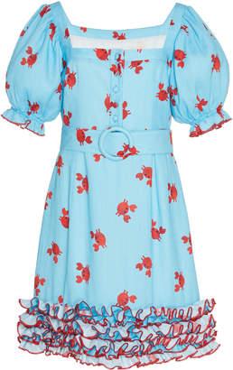 Gül Hürgel Ruffled Crab Mini Dress