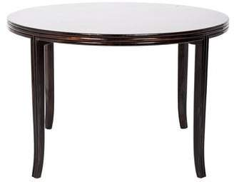 McGuire Furniture Round Mahogany Dining Table