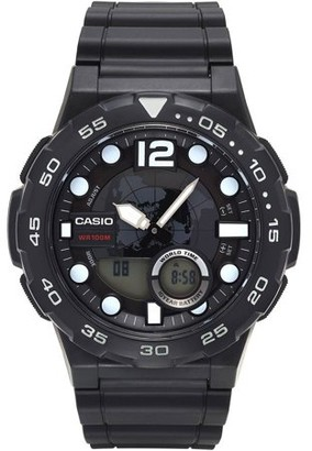 Casio Men's Ana-Digi Dive Style Watch, Black, AEQ100W-1AVCF