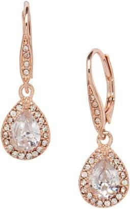 Cezanne Rose Goldtone Crystal Drop Earrings