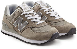 New Balance WL574 B Suede Sneakers with Mesh