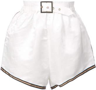 Cynthia Rowley belted short shorts
