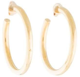 Tiffany & Co. 18K Medium Bezet Hoop Earrings