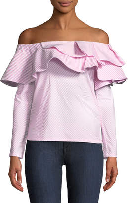 STYLEKEEPERS Think Fashion Ruffled Blouse, Pink