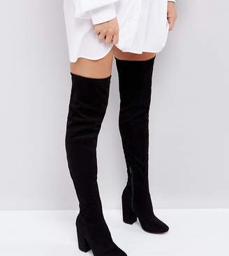 Asos DESIGN KATCHER Heeled Over The Knee Boots