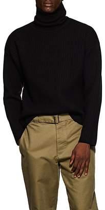 Ami Alexandre Mattiussi Men's Ribbed Merino Wool-Blend Turtleneck Sweater