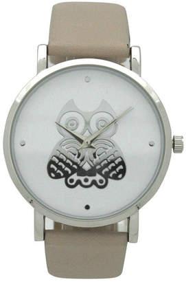 OLIVIA PRATT Olivia Pratt Owl Womens Brown Strap Watch-A917349taupe