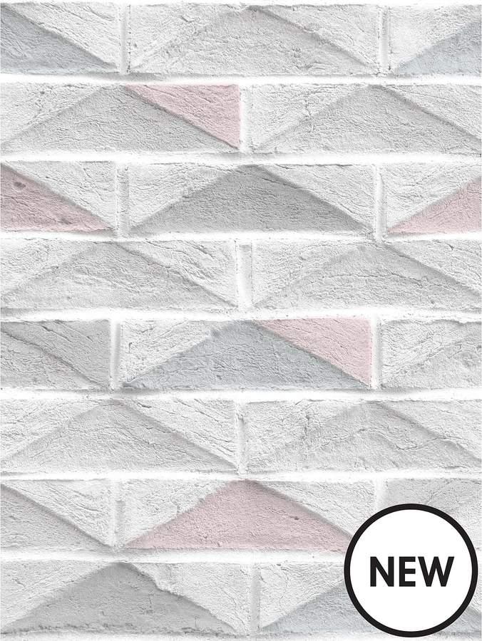 Superfresco Easy Blush Brick Wallpaper