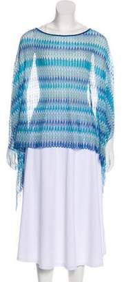 Missoni Patterned Knit Poncho