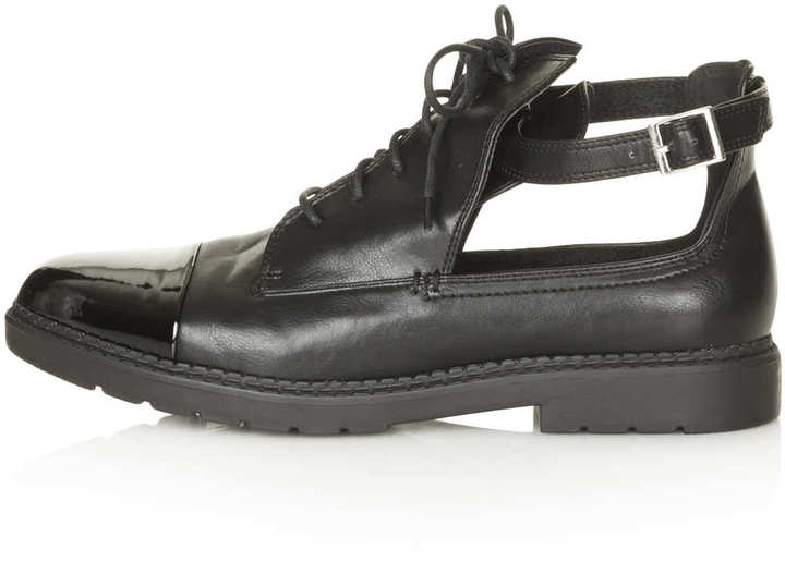 Topshop MADAM Cut Out Lace Up Boots