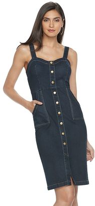 Women's Jennifer Lopez Faux-Snap Front Jean Dress $88 thestylecure.com