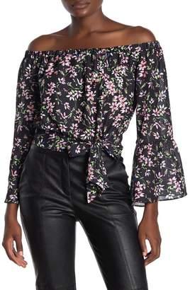 Parker Off-the-Shoulder Floral Bell Sleeve Blouse