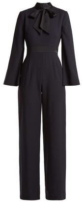 Goat Gypsy Wool Crepe Jumpsuit - Womens - Navy