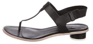 Tibi Leather Ankle Strap Sandals