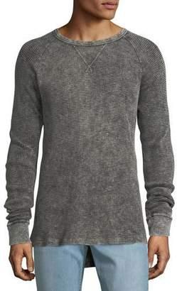 Hudson Men's Distressed Long-Sleeve Thermal Shirt