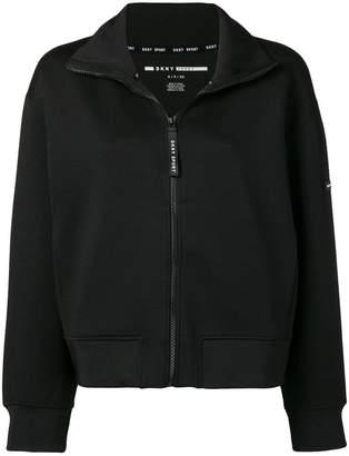 DKNY logo print bomber jacket