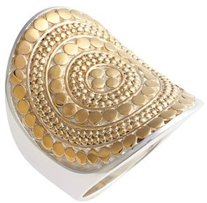 Women's Anna Beck Classic Vermeil Saddle Ring $300 thestylecure.com