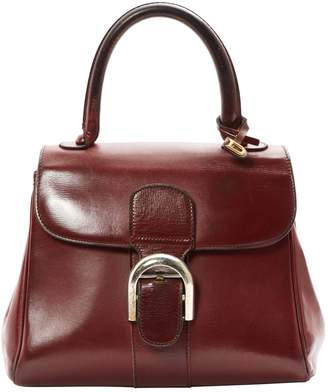 Delvaux Le Brillant Burgundy Leather Handbags