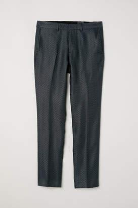 H&M Suit Pants Slim fit - Turquoise