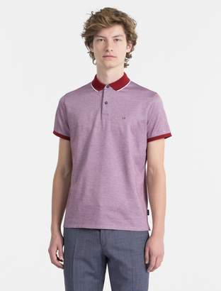 Calvin Klein slim fit cotton pique polo shirt