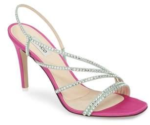 ATTICO Crystal Embellished Strappy Sandal