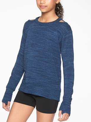 Athleta Girl Cold Shoulder Sweatshirt