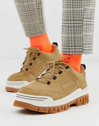 Asos Design DESIGN sport socks in neon orange