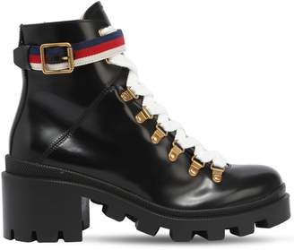 Gucci 60mm Trip Brushed Leather Boots