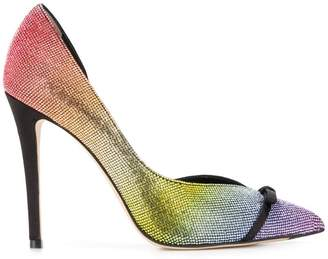 Marco De Vincenzo Decollete Rainbow Strass Crystal 105 pumps