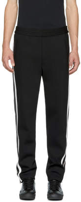Neil Barrett Black and White Side Snap Trousers