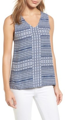 Women's Tommy Bahama Greek Grid Tank $88 thestylecure.com