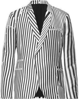 Haider Ackermann Double-Breasted Striped Twill Blazer