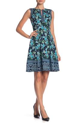 Maggy London Sleeveless Split Neck Dress