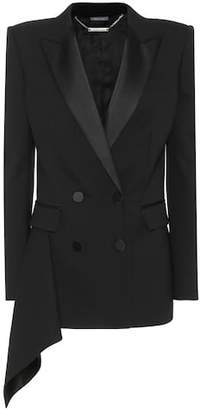 Alexander McQueen Wool and silk blend blazer